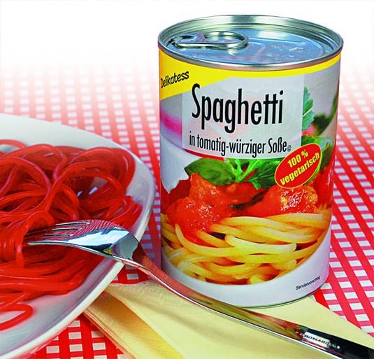 Tomaten Spaghetti Scherzdose