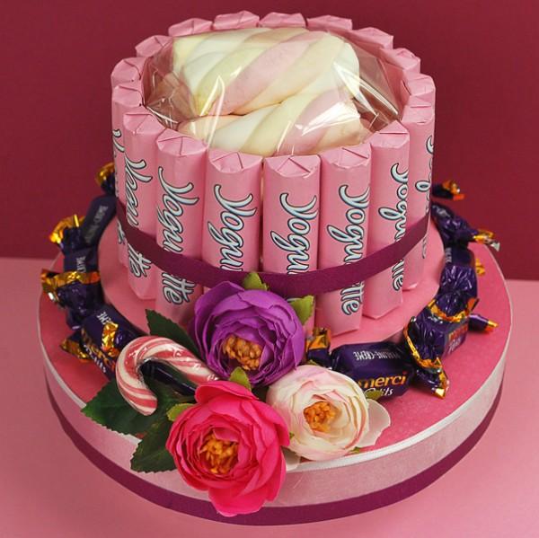 pinke Mädels-Torte