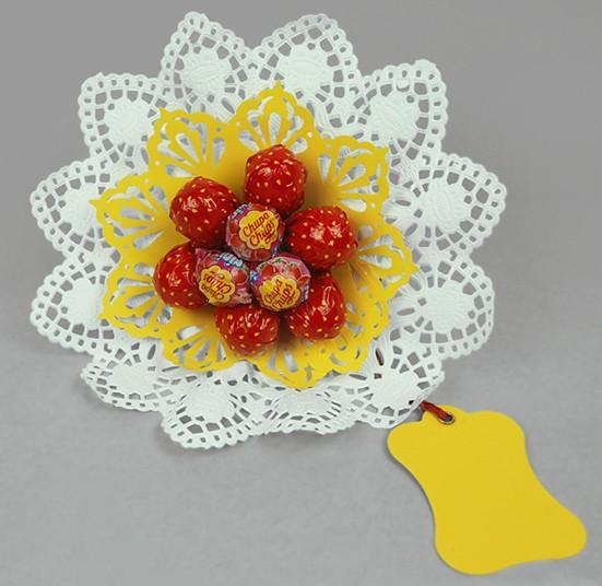 Erdbeer Lolli-Strauß