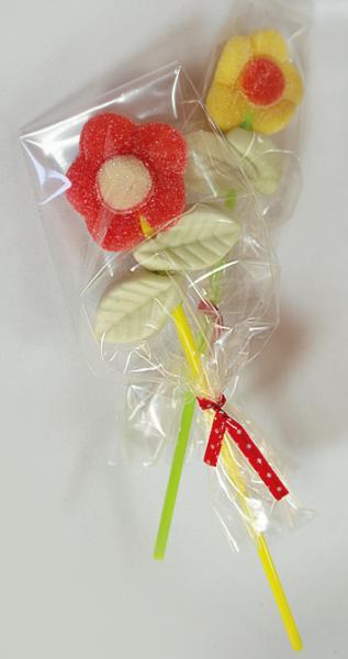 Süße Blumenspieße
