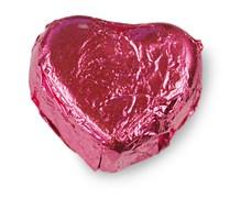 Nougatcreme gefüllte Schokoladen Herzen