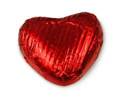 Vollmilchschokoladen Herzen