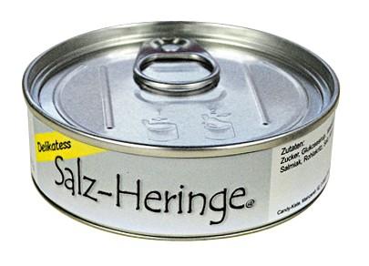 Scherz Dose Salz Heringe